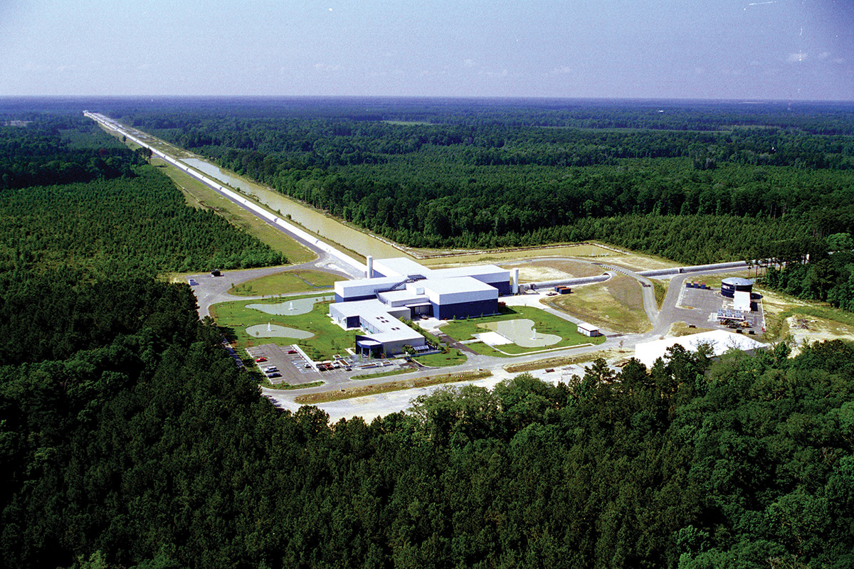 aerial view of LIGO
